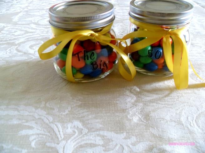 peanut m&ms in a jar