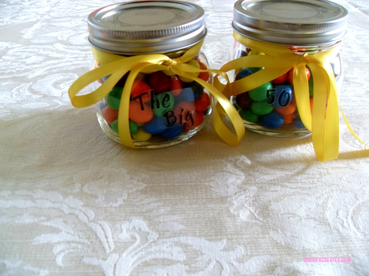 peanut m&ms in a jar