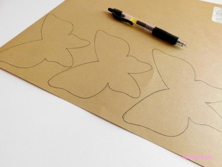 do it yourself butterfly wall art