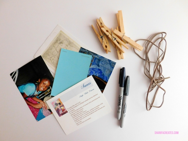 photo string set materials