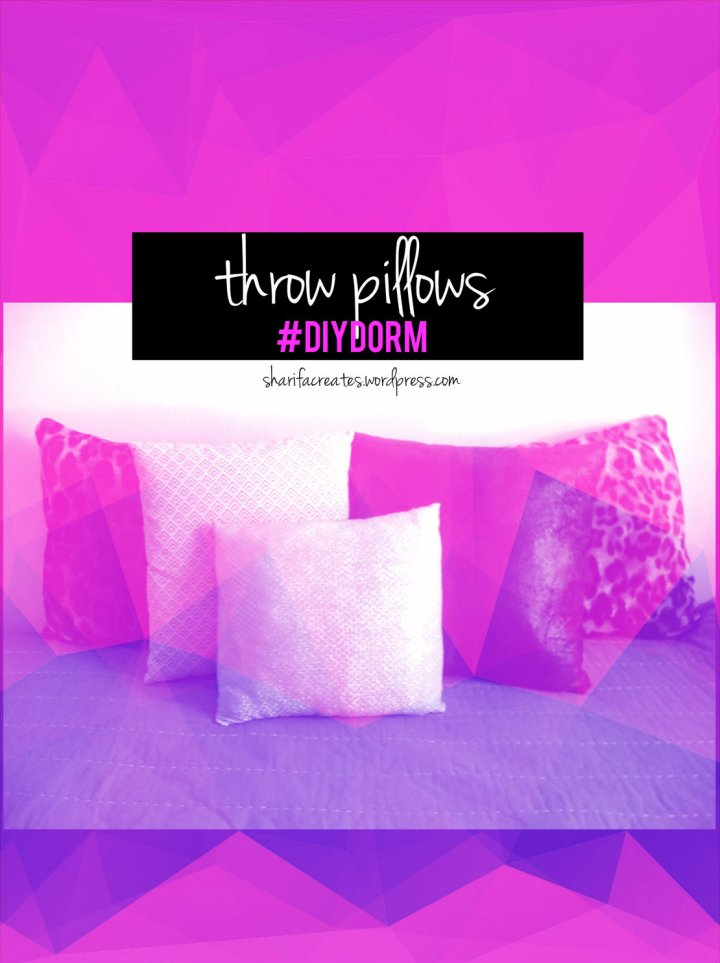 purple pillow black a