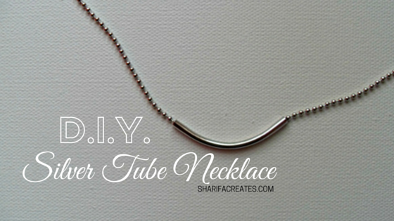 Silver Tube Necklace CI