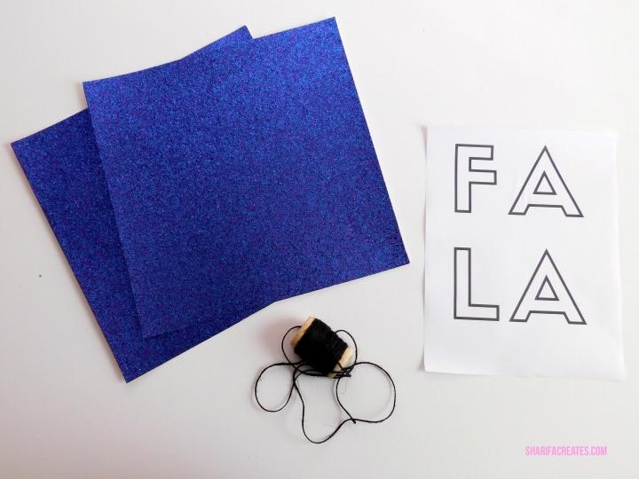 materials for diy letter banner