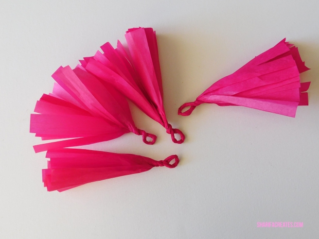 paper tassel diy project tutorial