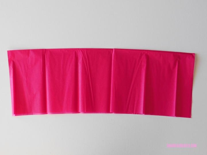pink tissue paper tassels