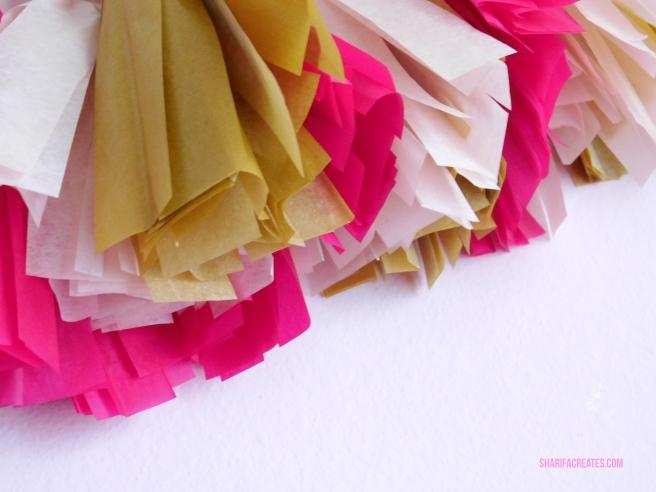 tissue paper tassels