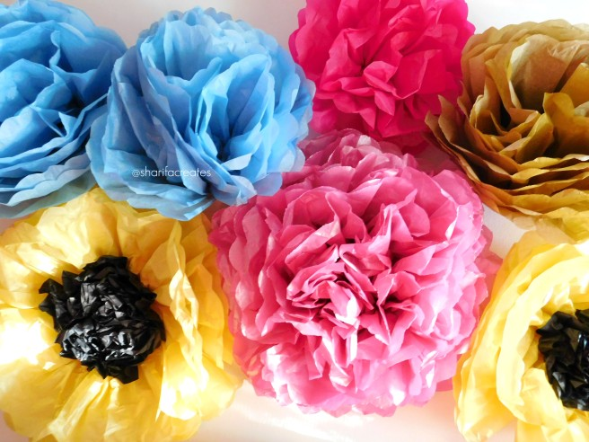 Diy jumbo tissue paper flower video tutorial sharifa creates you can also find full instructions in my blog post diy jumbo tissue paper flowers mightylinksfo
