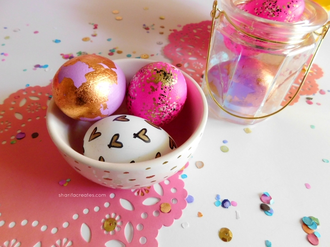 8 easy easter dcor and craft diy projects sharifa creates do it yourself easter eggs solutioingenieria Images