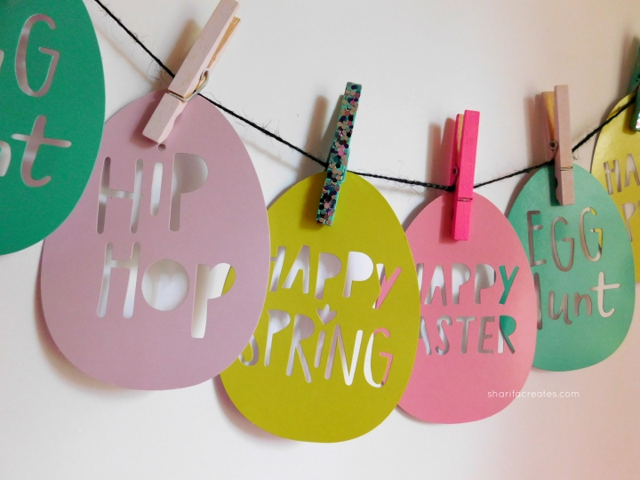 easter eggs and clothespins