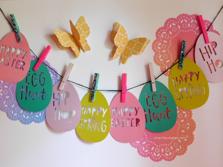 easter eggs photo string decor