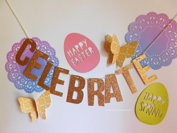 how to make a party banner easter