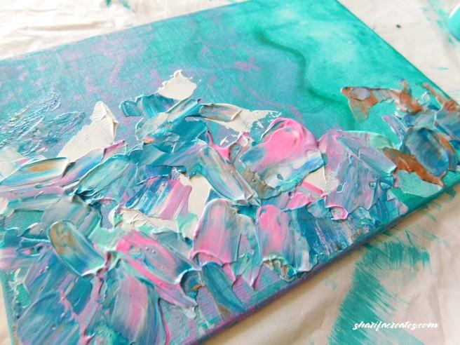 paint smudge on canvas
