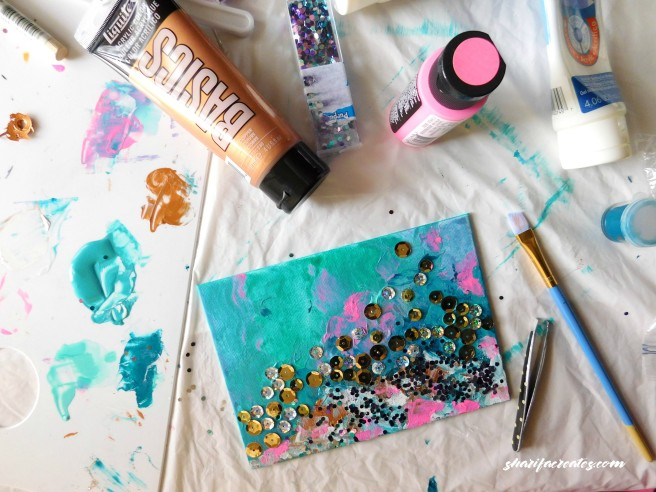 painting with sequins