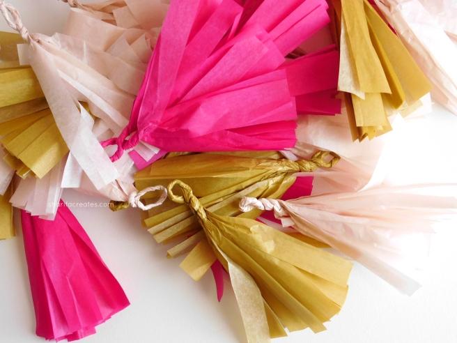 tissue paper tassel diy