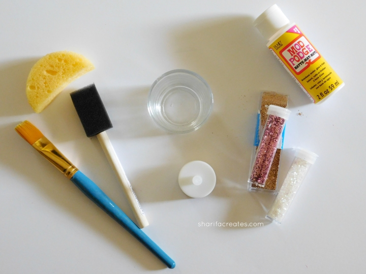materials glitter votive