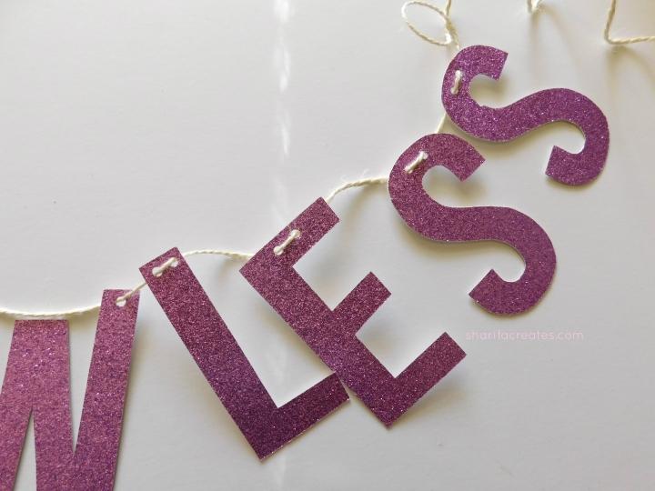 glitter letter tutorial