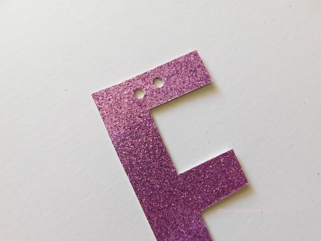 glitter letter