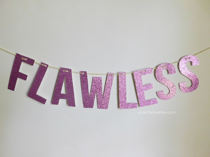 how to make a glitter banner