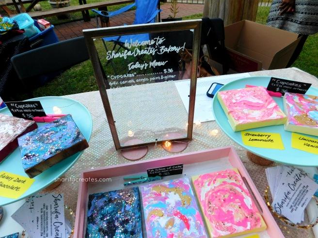 glass sign menu art market