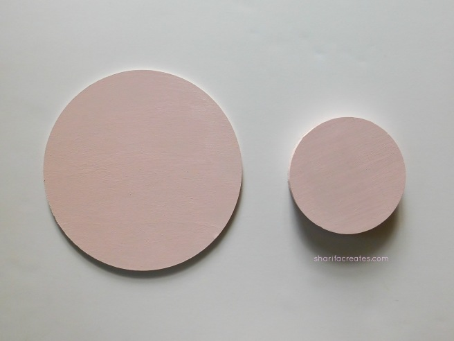 painted wood circles