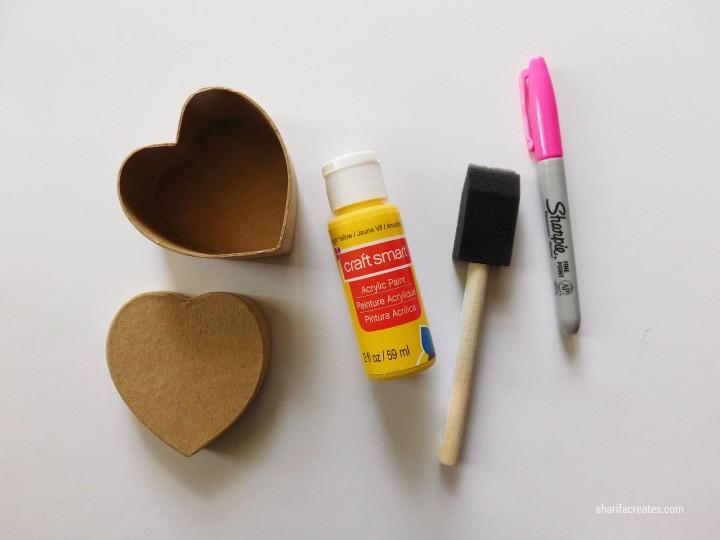 conversation heart box materials
