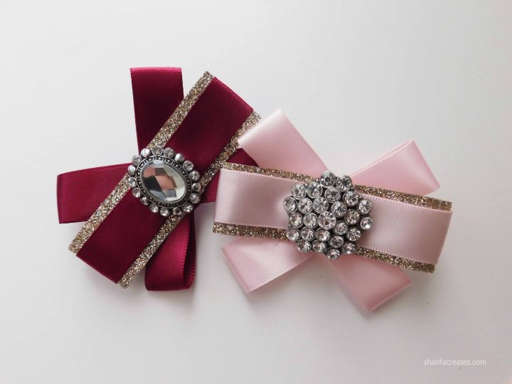 ribbon bow brooch pin tutorial diy (1)
