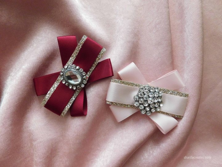 ribbon bow brooch pin tutorial diy (2)