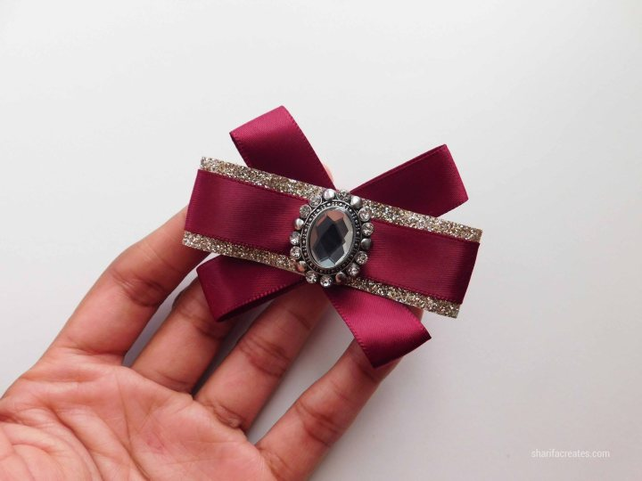 ribbon bow brooch pin tutorial diy (30)